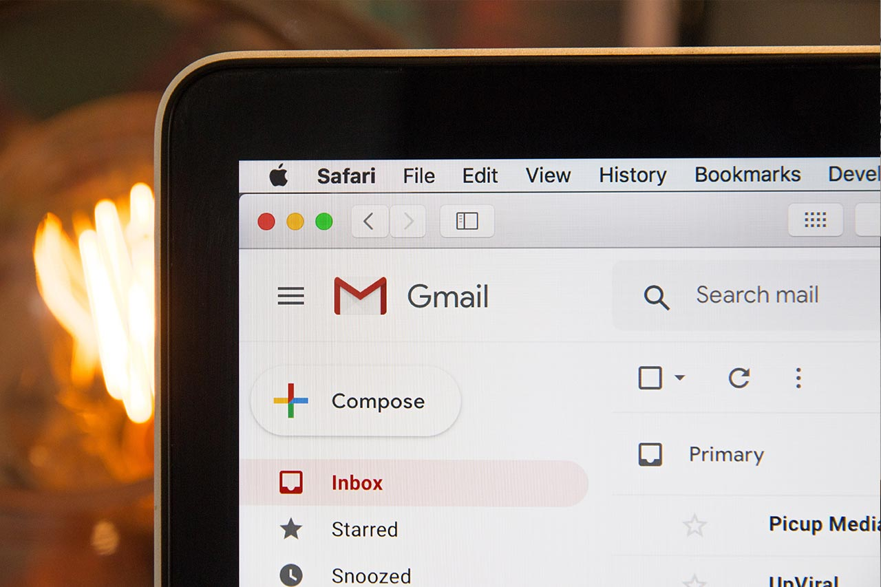 Picture of the top corner of a browser showing Gmail application